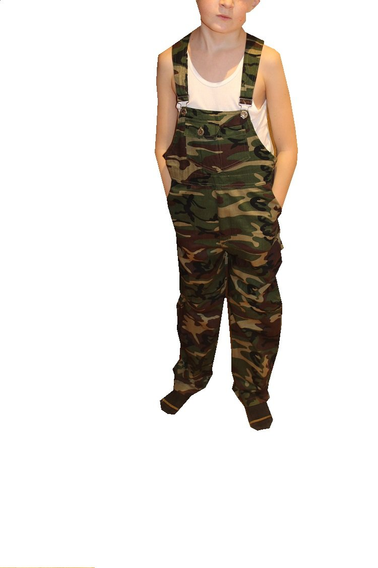 - DESIGNED AND MADE FOR CHILDREN 8200 camouflage, S PINT SIZE COTTON CHEF PANTS 8200
