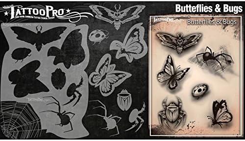 Tatuaje Pro Plantillas Serie 2 - Mariposas y de Insectos: Amazon ...