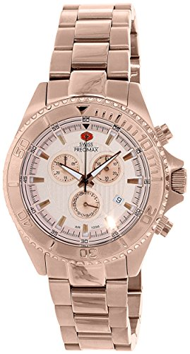 Swiss Precimax Men's SP12195 Maritime Pro Rose-Gold Dial Rose-Gold Stainless Steel Band Watch