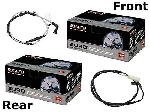 E66 Brake Pad (BMW e65 e66 Brake Pad KIT Front+Rear CERAMIC Akebono Pads+Sensors)