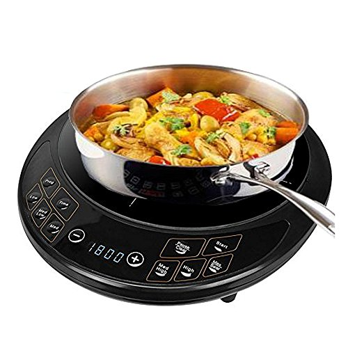Automatic Built In Cooktop (#1 Precision Portable Induction Cooktop Single Burner Cooker Counter Top Digital Display 1800 Watts - Uses 90% less Energy)
