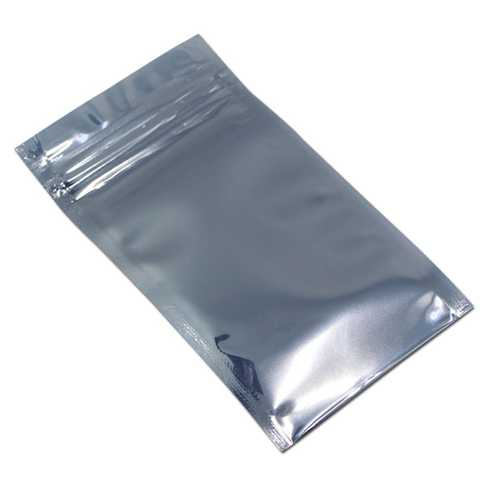 50Pcs 13x19cm (5.1x7.5 inch) Zip Lock Antistatic Plastic ESD Shielding Bag Resealable Grip Seal Packaging Pouch