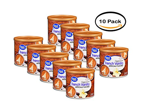 PACK OF 10 - Great Value French Vanilla Cappuccino Beverage Mix, 16 oz