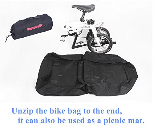 AMOMO Folding Bike Bag 14 inch to 20 inch Bicycle Travel Carrier Case Box Carry Bag Pouch Bike Transport Case by AMOMO (Image #8)