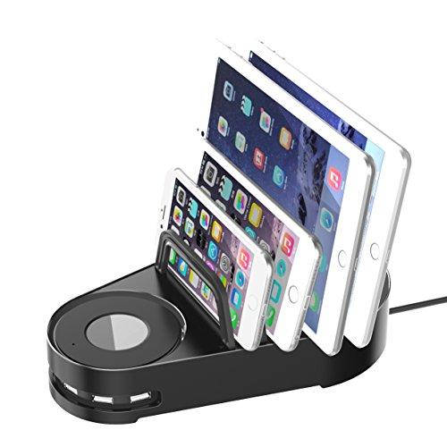 Vogek 6-Port USB Charger Desktop Charging Station Smart Identification (Black) by Vogek (Image #6)