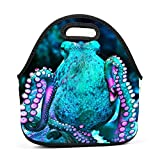 Best Picnic Plus Lunch Boxes - WWINL Live Octopus in Turquoise Lunch Bag Insulated Review