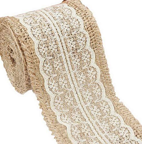 Kaputar Burlap Beige Lace Craft Ribbon for Craft (Beige) | Model WDDNG -1032
