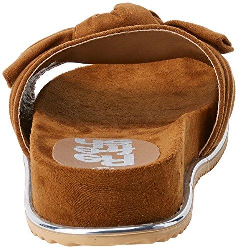Marron Refresh Sandales Bout Ouvert Femme camel 64326 XPnP1Hp4