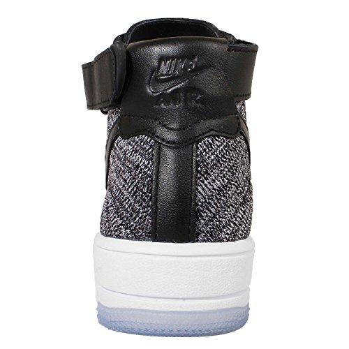 Nike W Af1 Flyknit, Chaussures de Sport Femme Noir / Noir-blanc