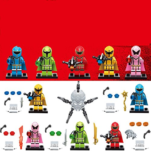 TONGROU 5pcs-Set-Power-Minifigures-Assemble-Figures-Cartoon-Building-Toys
