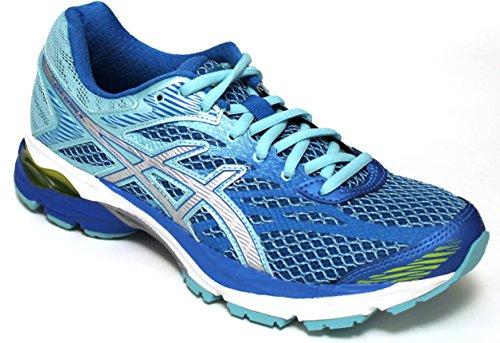 Asics Chaussures Running Femme-Gel flux 4W-t764N-4393-Diva Blue/Silver/Aqua splash-41.5