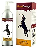 Omega Oil for Dogs - Healthy Skin, Shiny Coat, Joint Health Boost - No Fishy Smell - Omega 3, 6 & 9, Vitamins A, D & E and Biotin - MaxxiOmega Liquid Canine Supplement - Easy To Use Pump