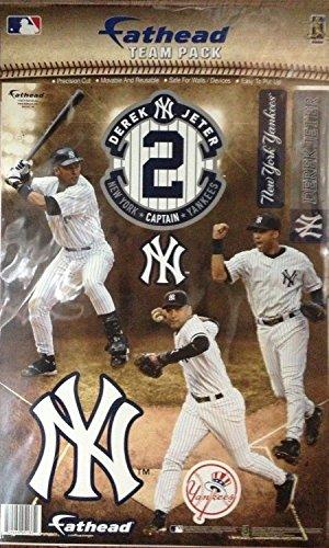 Derek Jeter New York Yankees Team Pack Fathead® - 3 Poses of Jeter with Captain...