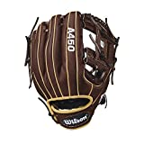 Wilson 2018 A450 Gloves - Right Hand Throw Dark Brown/Blonde, 11.5'