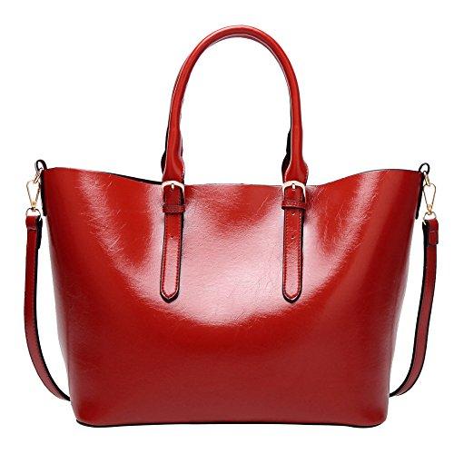 ASDYY Sac à Main De La Mode Des Femmes Simple Sauvage Sac à Bandoulière Europe Et Les États-Unis Sacs à La Mode Red