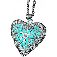 ELOI Magical Fairy Glow in the Dark Heart Locket Pendant Necklace for Teen Girl …