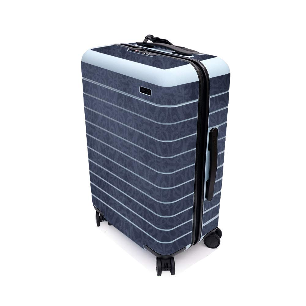 MightySkins Skin for Away The Bigger Carry-On Suitcase - Charcoal Lattice   Protective, Durable, and Unique Vinyl Decal wrap Cover   Easy to Apply, Remove, and Change Styles   Made in The USA