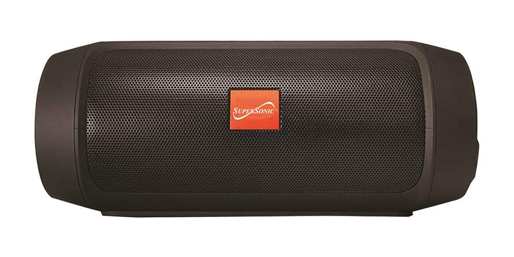 Black Supersonic 7-Inch Portable Bluetooth Rechargeable Speaker