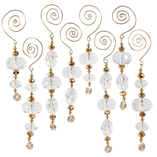 Solid Oak Icicles Ornament Kit, Crystal/Gold