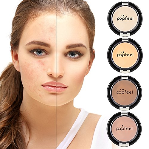 MS.DEAR 4 Colors Camouflage Concealer for Dry Skin and Acne, Eye Concealer for Dark Circles, Foundation and Concealer Makeup, Cover Bruises, Tattoos, Age Spots & More