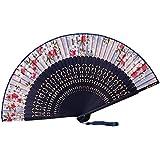 [Chinese & Japanese] Retro Silk Hand Fan Portable Folding Fan Handheld Fan NO.14