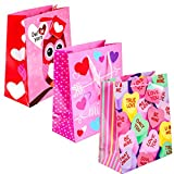 Large Whimsical Valentine's Day Inspired Gift Bags! Set of 3