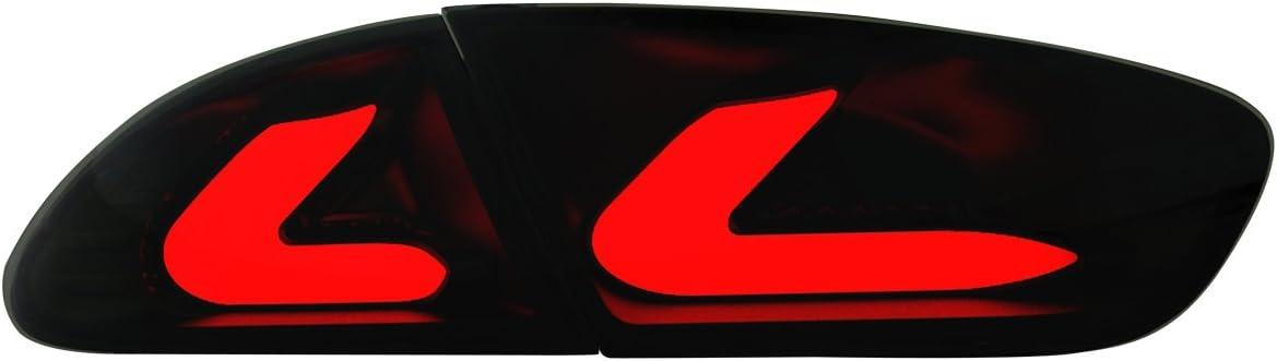 Dectane Rsi08llbs Cardna Led Rückleuchten Seat Leon Lightbar 09 Und 1p1 Schwarz Rauch Auto