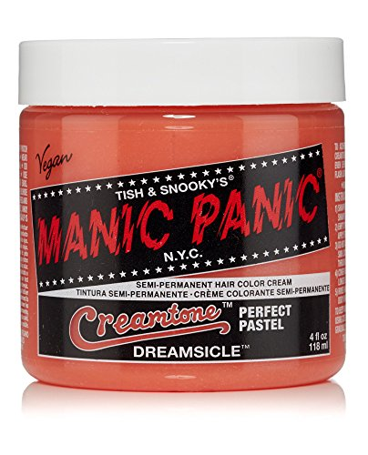 Manic Panic Semi-Permanent Hair Color Cream, Dreamsicle, 4 Ounce