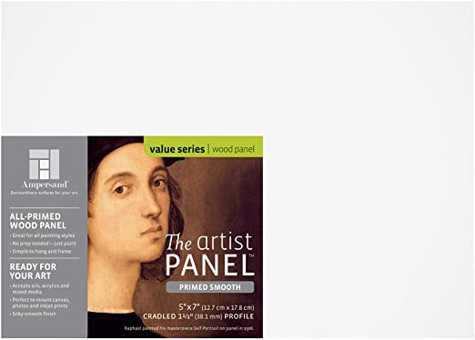 "Ampersand Smooth Sampler Value Pack Claybord 7//8/"" Artist Panel Golden Acrylics"