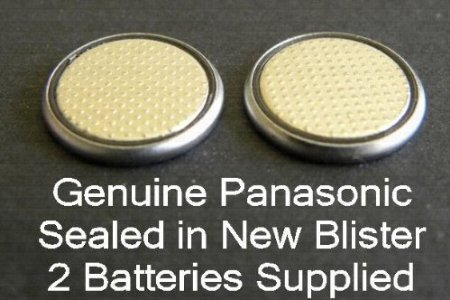 - One (1) Twin Pack (2 Batteries) Panasonic Cr2016 Lithium Coin Cell Battery 3V...