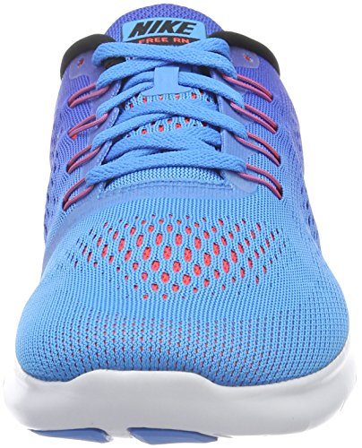 Nike Free RN, Scarpe da Ginnastica Uomo Blu (Blue Glow/Black/Racer Blue/Bright Crimson/White)
