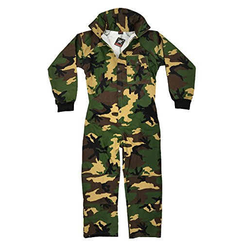 Maddog Tactical Paintball Rip Stop Coverall Jumpsuit - Woodland Camo - X-Large (Ripstop Woodland Camo)