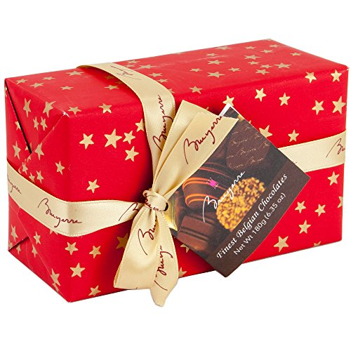 Finest Belgium Chocolate Collection | Milk Dark Chocolate Filled with Gianduja Coconut creme Hazelnut Praline Nougat Truffles Mousse Pure Arabica Coffee Orange Ganache | 1 Gift Box 6.53 Oz (Bruyerre)