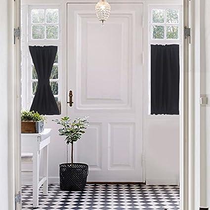 Kitchen Door Window Treatments Amazing Decoration