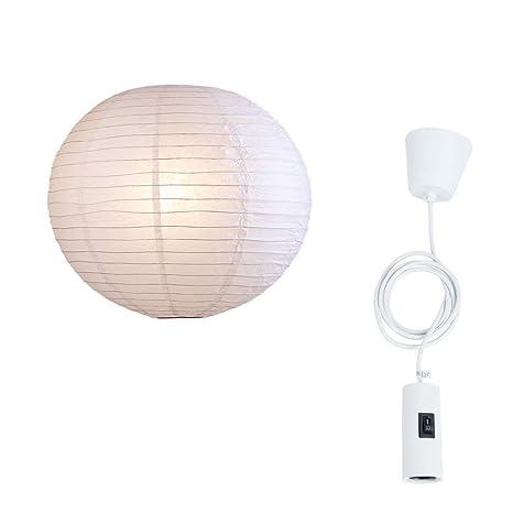 Blanco Colgante Japonesa Ø 50cmLuz Lámpara Bola MSVpqzU