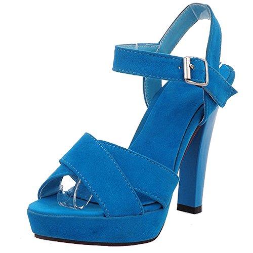 Alto Estive Spillo Blu Cross A Platform Strappy Women Tacchi Coocept Tacco Sandali Scarpe xnAq44az