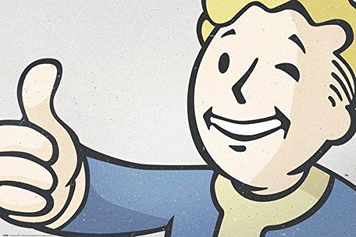 Fallout-4-Gaming-Poster-Print-Vault-Boy-Size-36-x-24