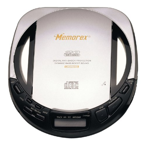 Memorex MD6250 Personal CD Player with Translucent Stereo Headphones (Memorex Personal Cd Player)