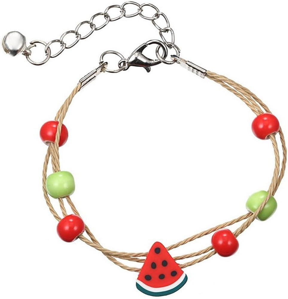 Adjustable Size Bangles J Meng Korea Originality Candy Color Fruits Bracelet