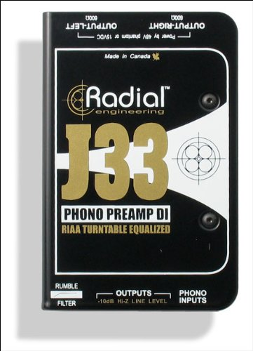 Radial J33 2-channel Active Turntable Preamp/Direct