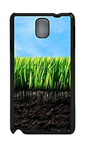 Samsung Note 3 Case Empty Grass 239 PC Custom Samsung Note 3 Case Cover Black