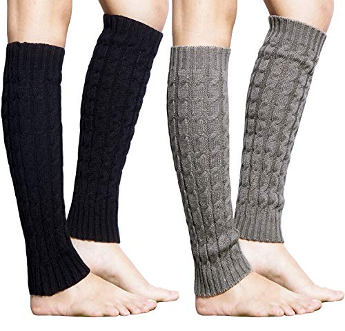 Acrylic Leg Warmers (Loritta 1 Pairs / 2 Pairs Women Knit Leg Warmers Winter Long Boot Cuffs Socks)