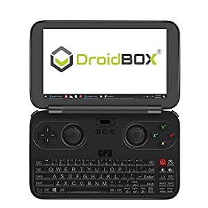 "DroidBOX GPD WIN June 5 Update Aluminum Top Cover Version X7-Z8750 Windows 10 Powered Gaming Portable Console 5.5"" OGS LCD Display, Up to 2.56GHz CPU, 4GB RAM, 64GB ROM"