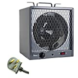 Dr. Infrared Heater 5600W Garage Workshop Portable Industrial Space Heater, Gray