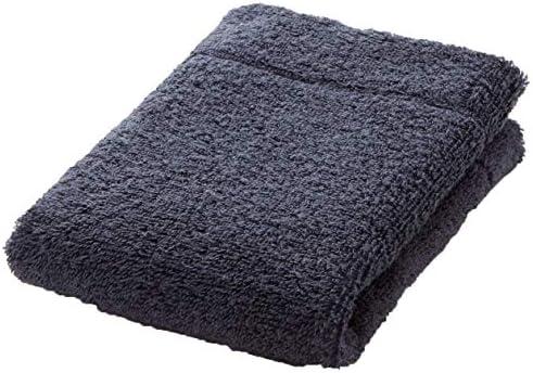 Muji - Toalla de algodón orgánico (34 x 35 cm), color azul marino ...