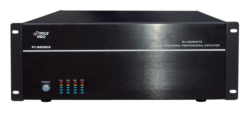 19'' Rack Mount 8000 Watt 8 Channel Stereo/Mono Amplifier