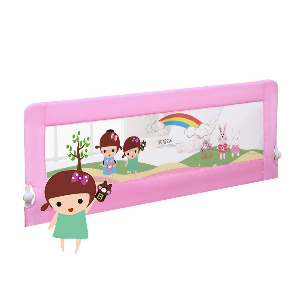 ZR- ベッドレール - 子供のための余分な背丈、子供のための折りたたみ自転車家庭用ダブルベッドのためのベビーベッドガードレール、高さ68cm (色 : Pink-200cm)  Pink-200cm B07M86CVNJ