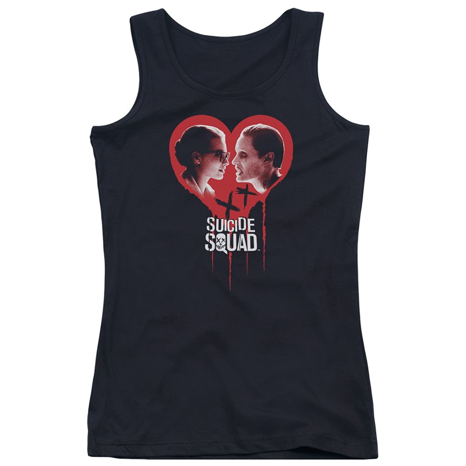 Suicide Squad Juniors Joker Spits Game Tank Top