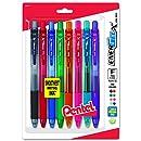 Pentel EnerGel-X Retractable Liquid Gel Pen, 0.5mm, Needle Tip, Assorted Ink, Pack of 8 (BLN105BP8M)