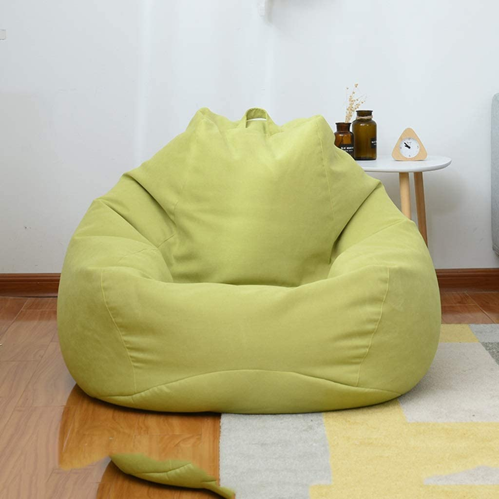 Tela de Lino removible y Lavable,Brown,S Silla con Forma de Frijol: Bolsa de Frijol Grande y con Memoria de 3 para Muebles de Espuma Cubierta Suave y Grande para sof/á